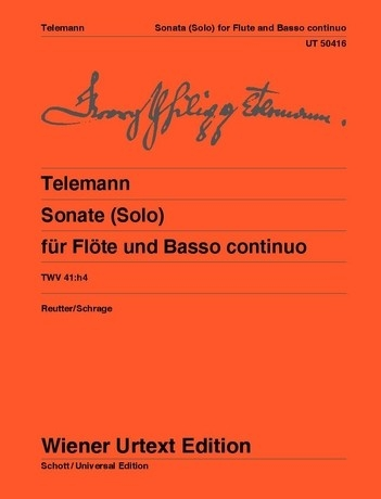 Telemann Sonata for Flute and Continuo, Wiener Urtext Edition