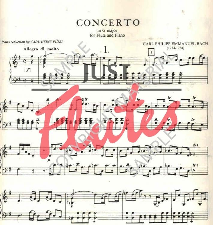 CPE Bach G major concerto