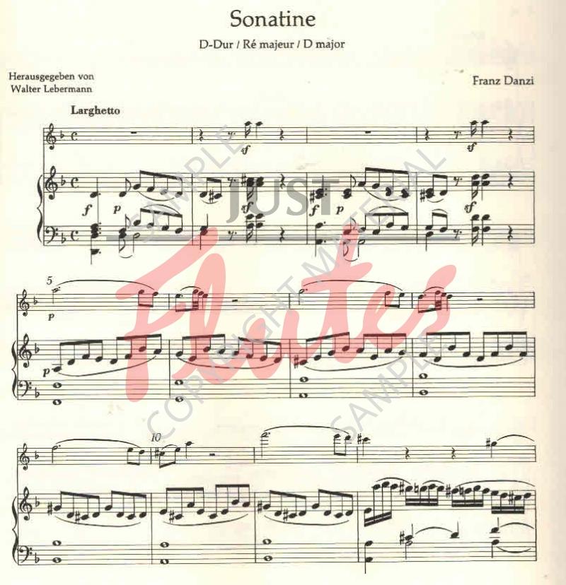 Danzi Sonatina in D major